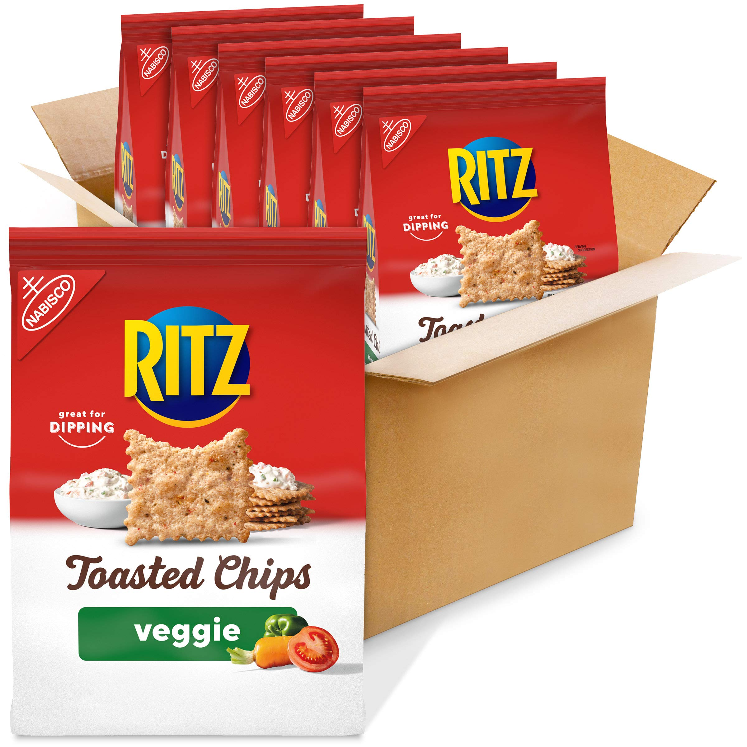 RITZ Toasted Chips Veggie, 6 - 8.1 oz Bags