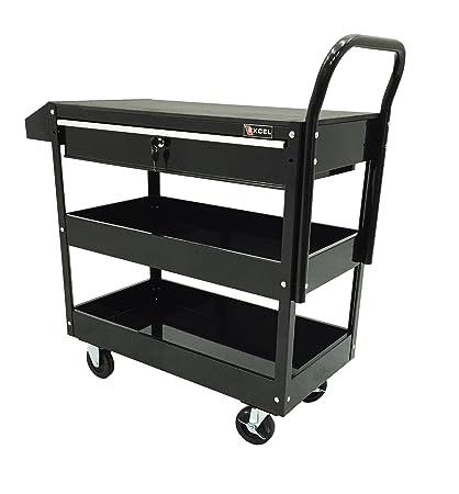excel tc301c black 36 inch steel tool cart black