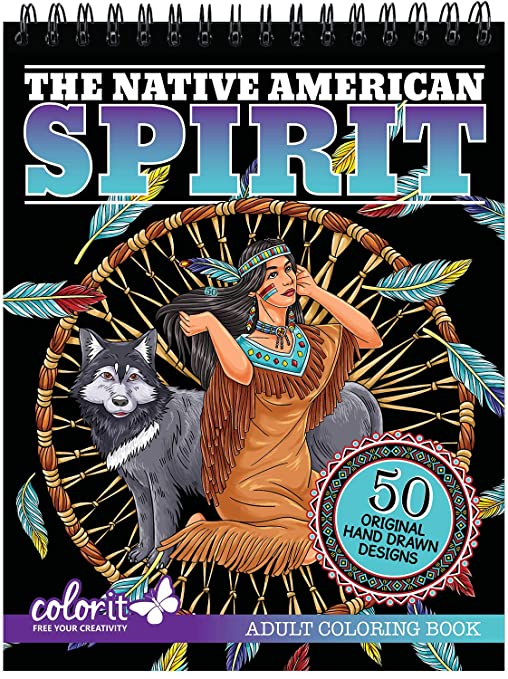 Amazon.com: ColorIt The Native American Spirit Adult Coloring Book ...
