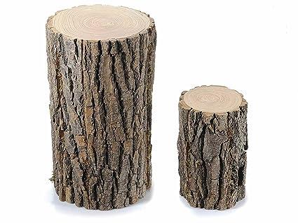 Tronchi d albero decorativi set da due tronchi alti amazon