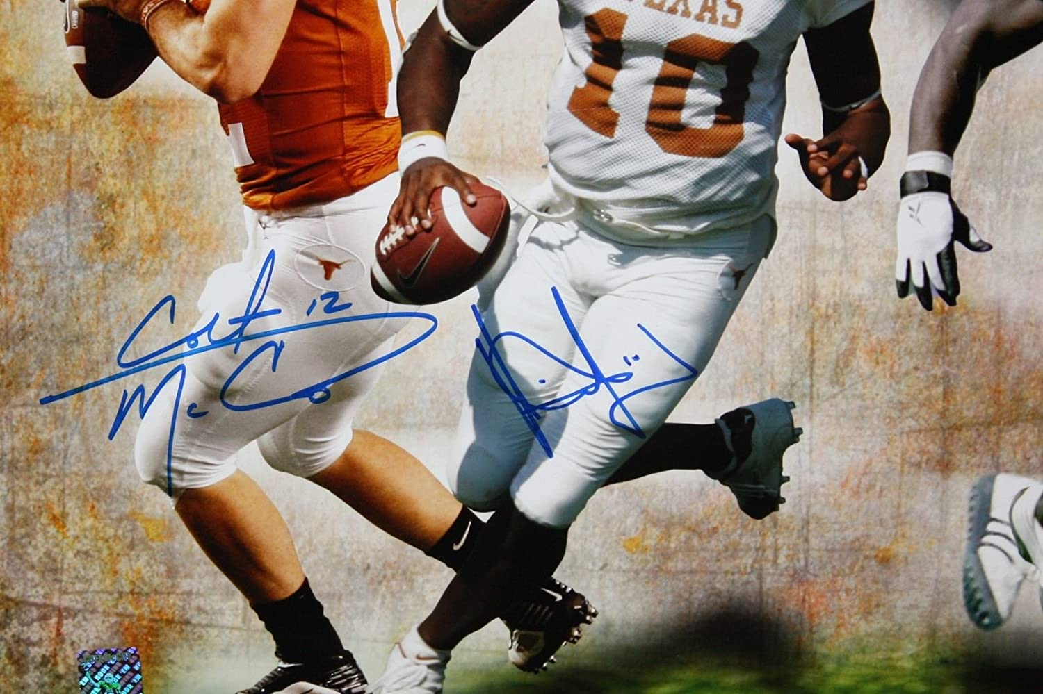 J Campbell McCoy Williams /& Young Autographed 16x20 Texas Longhorns Photo
