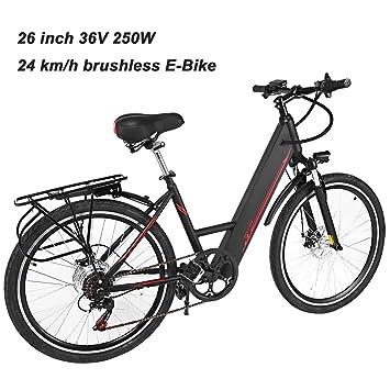 AIMADO Bicicletas Electricas de Montaña Nieve Ruedas de 26 Pulgadas 250W 24KM/h, E