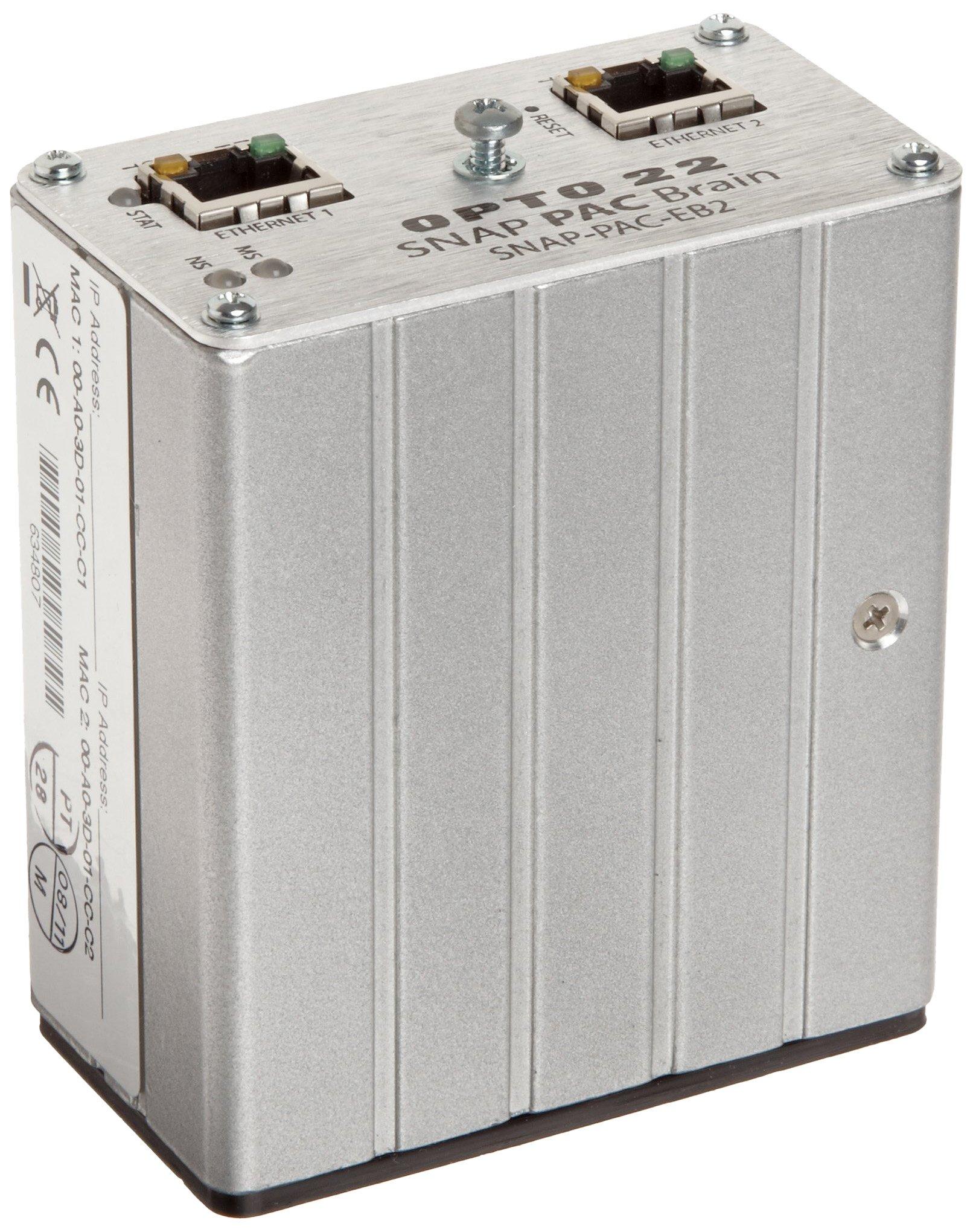 Opto 22 SNAP-PAC-EB2 - SNAP PAC Ethernet Brain, Analog/Digital/Serial, 16 MB RAM by Opto 22
