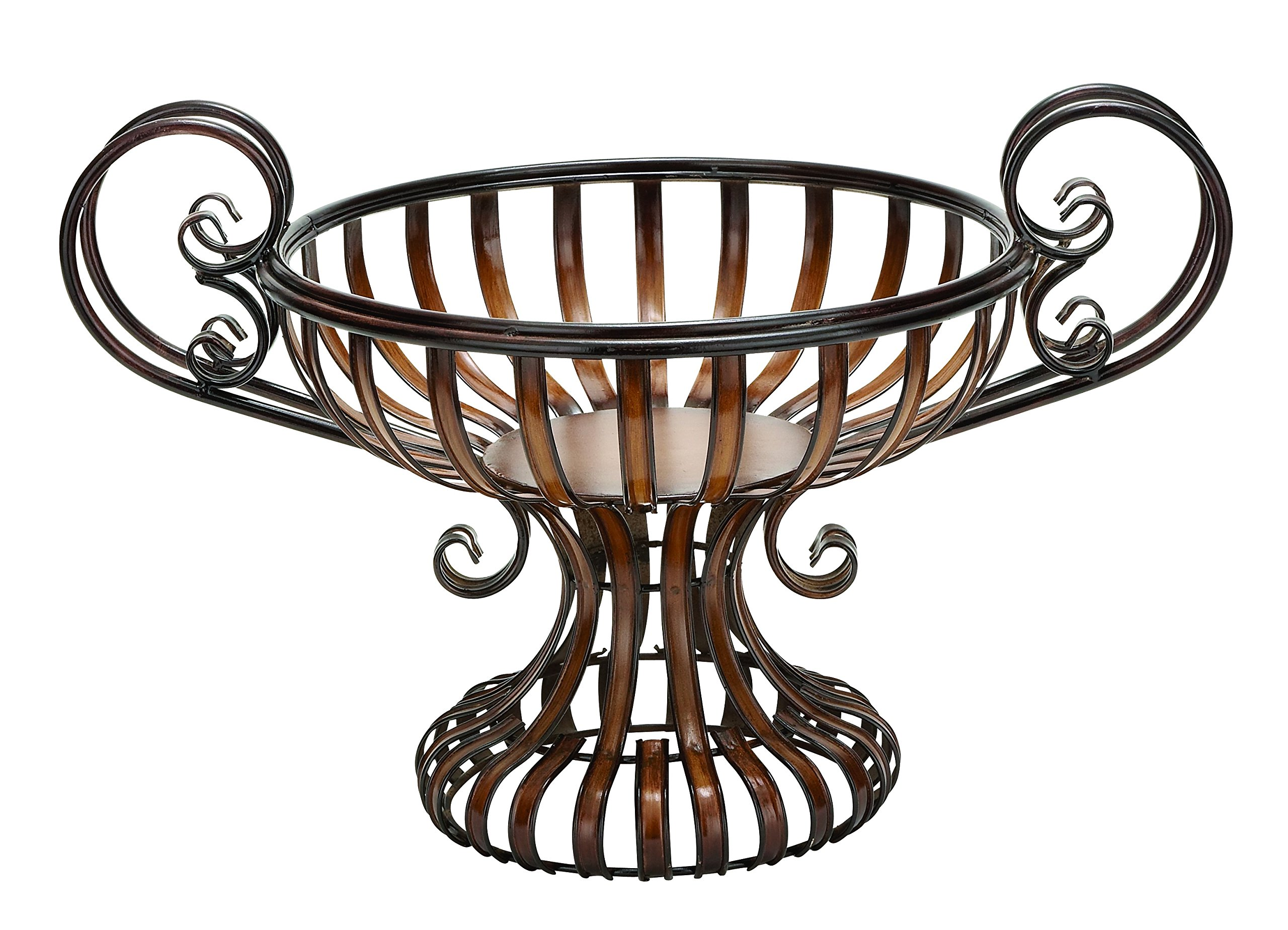 Plutus Brands Metal Bowl with Elevated Base