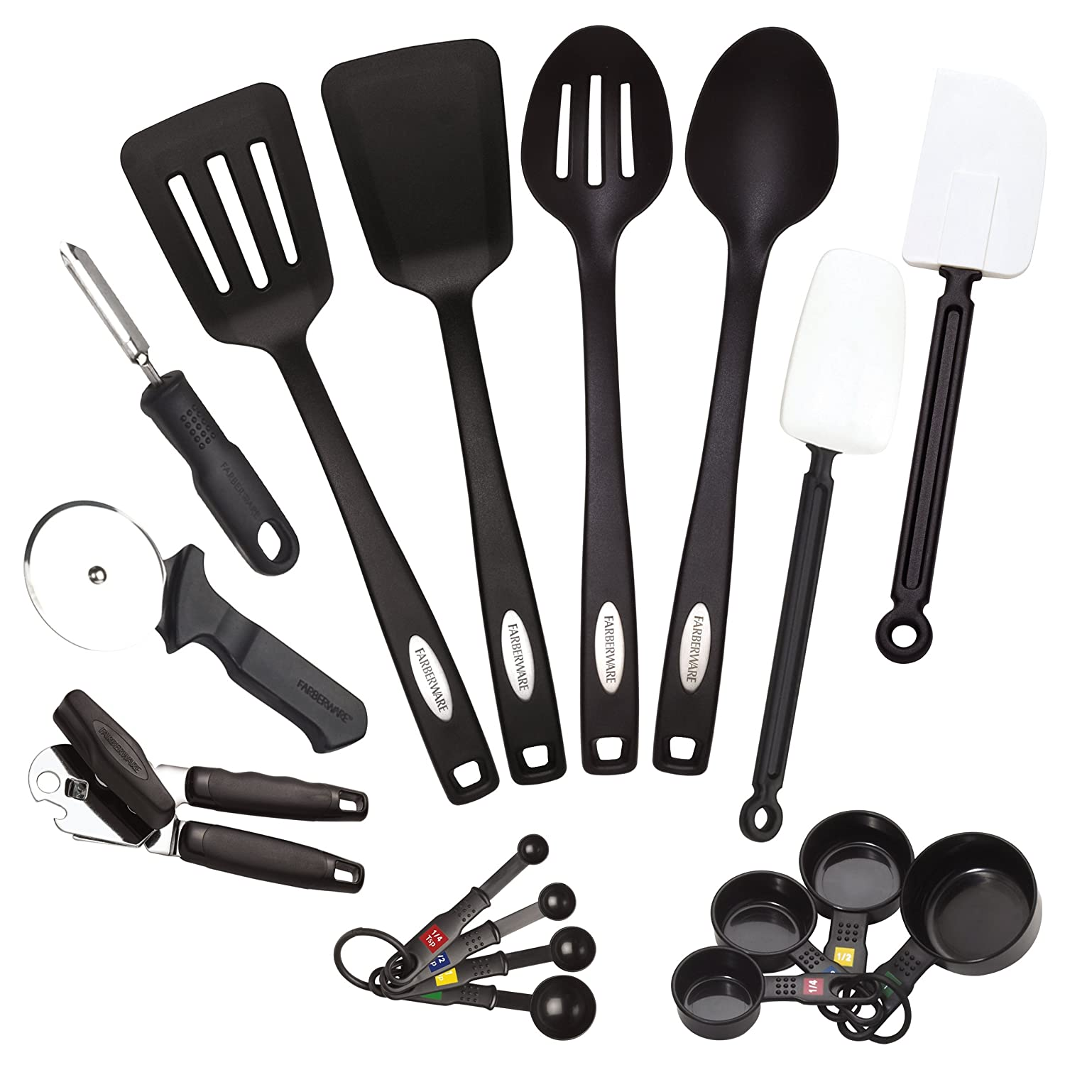 Amazon.com: Farberware 5080445 Classic 17-Piece Tool and Gadget Set ...