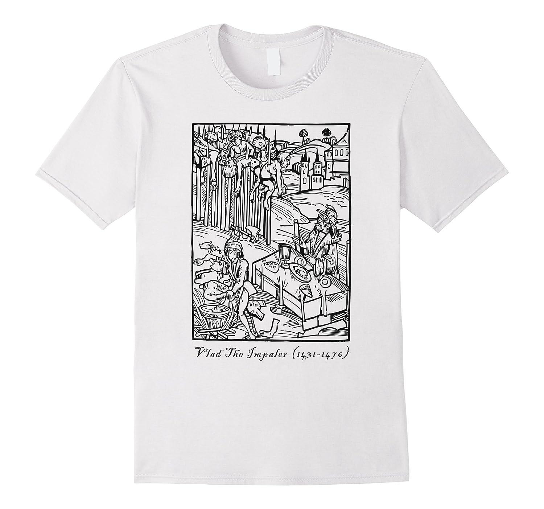 Vlad The Impaler Tepes Dracula T-Shirt White Grey Horror Men-TJ