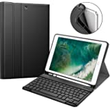 Fintie Keyboard Case for iPad 9.7 2018 with Built-in Pencil Holder, [SlimShell] Soft TPU Back Protective Cover w…