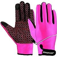 Fietshandschoenen Winter Dames Mannen Vrouwen Touchscreen Winddicht Thermische Outdoor Anti-slip Gel Gewatteerde…