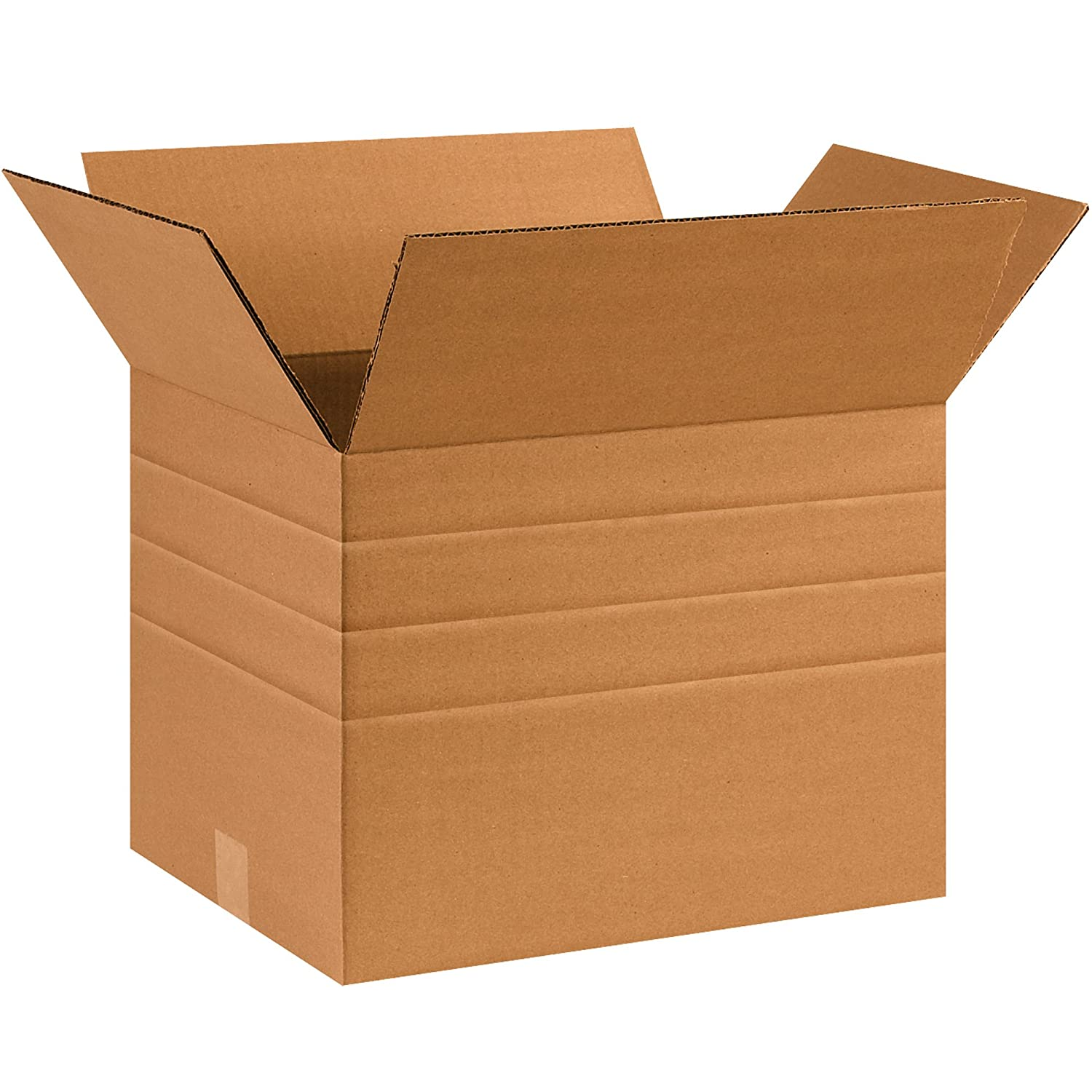 Pack of 15 BOX USA BMD241612 Multi-Depth Corrugated Boxes Kraft 24L x 16W x 12H