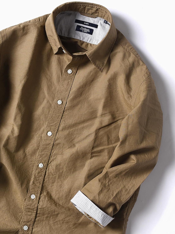 (シップス) SHIPS ワイシャツ SC: MADE IN JAPAN Herdmans コットン/リネン 7スリーブ シャツ□ 111310184 B07DGQ44HZ 日本 M-(日本サイズM相当) Olive2 Olive2 日本 M-(日本サイズM相当)