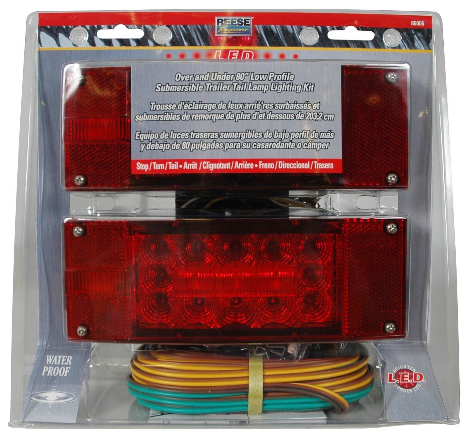 Reese Towpower 86006 Led Trailer Light Kit Automotive Hitch Wiring Kits