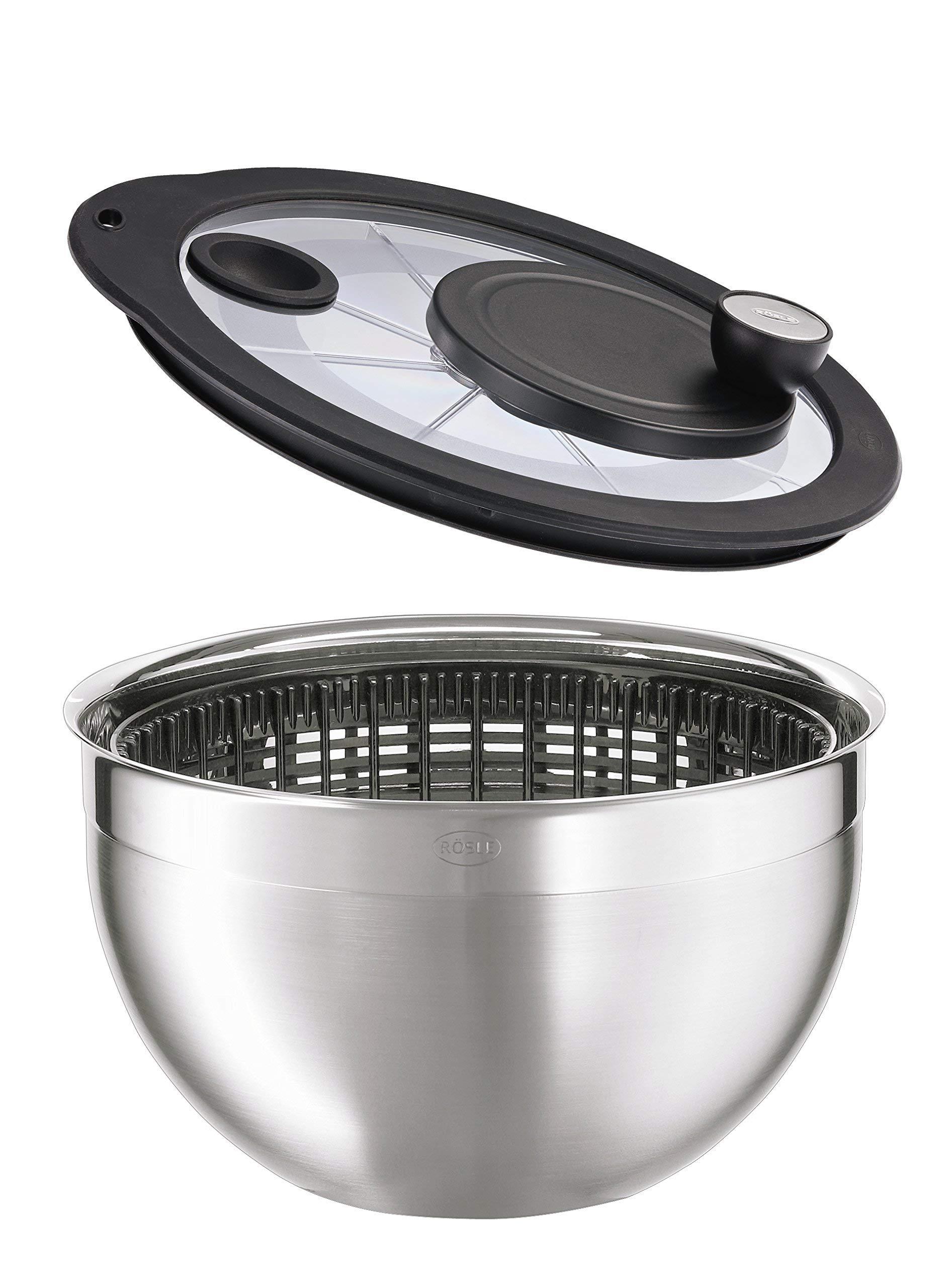 Rosle Stainless Steel Salad-Spinner, Large by Rosle