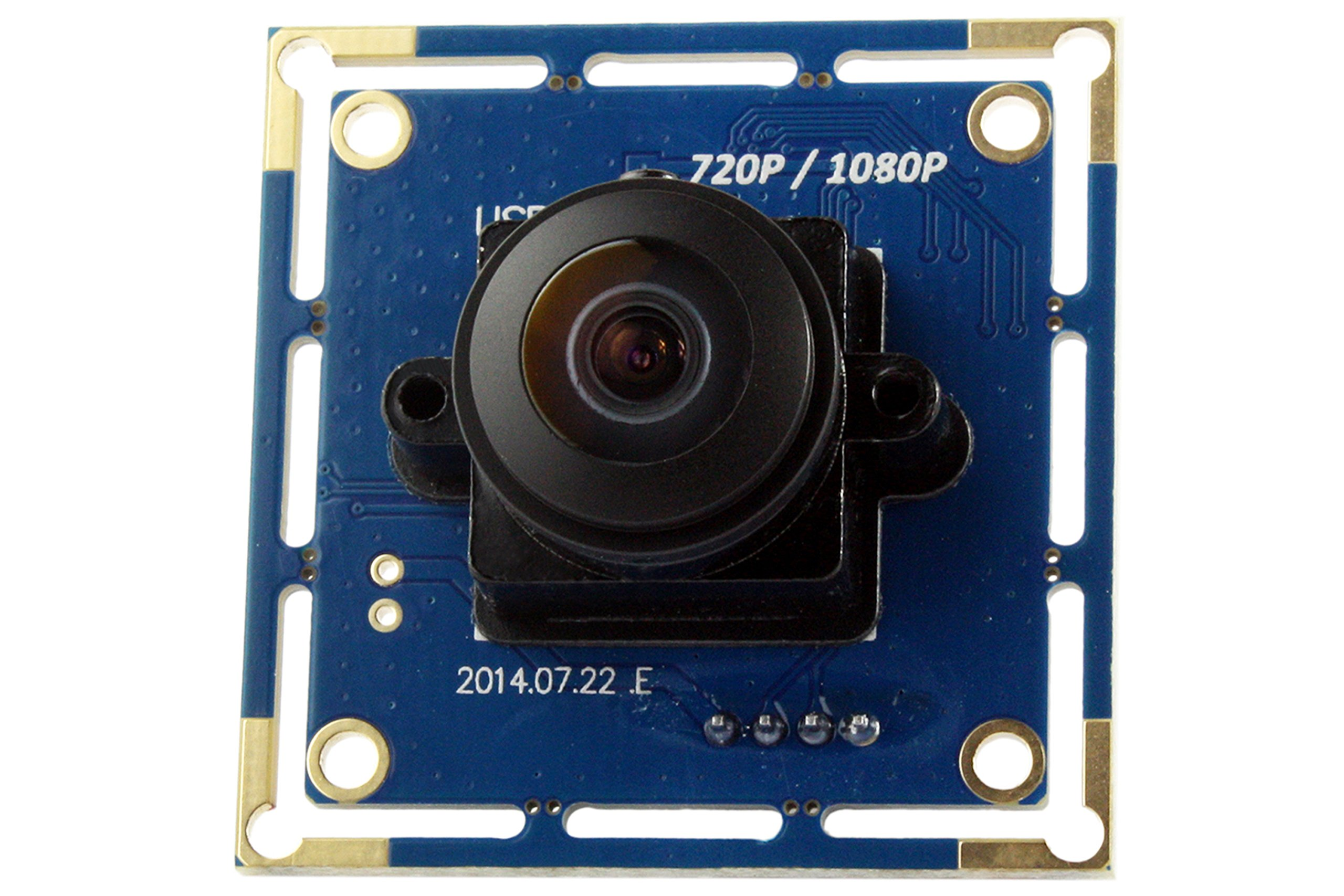 180degree Fisheye Lens 1080p Wide Angle Pc Web USB Camera.usb Camera Module for Android Windows .Cam Module Ir. by ELP