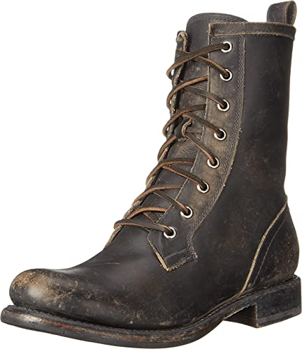 FRYE Women's Jenna Combat Black Stone Wash Boot 6 B ...