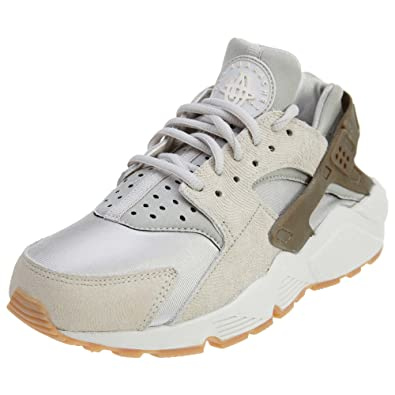 fc1ed8962674 Nike Women Air Huarache Run Premium Suede (Gamma Grey Phantom-Gum Yellow)