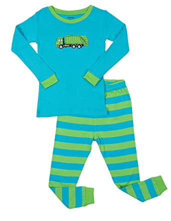 cc1ee2041 Amazon.com  Leveret Kids   Toddler Pajamas Garbage Truck Train Boys ...