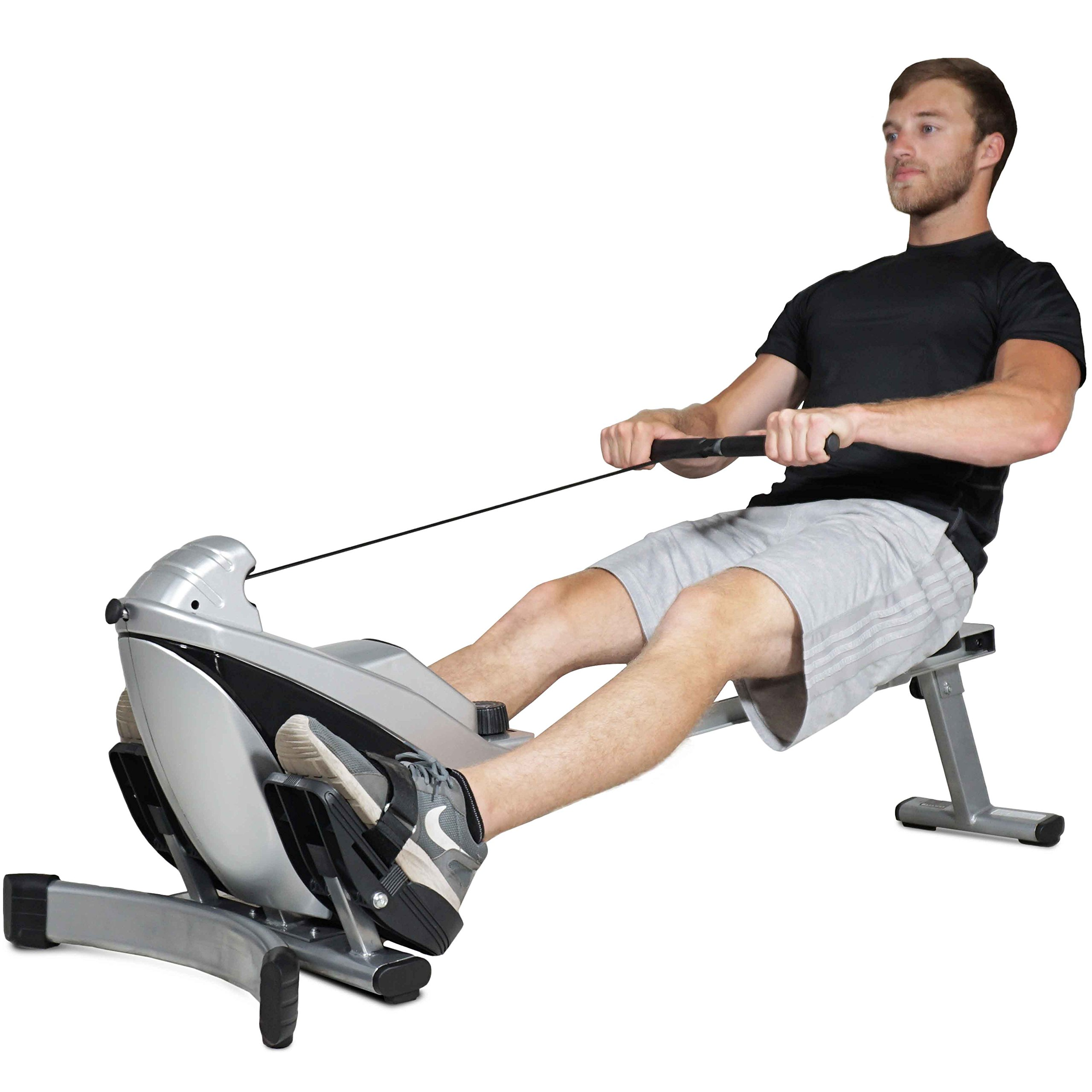 Titan Adjustable Magnetic Resistance Rowing Machine w/LCD Screen Rower Folds Up & Saves Space by TITAN FITNESS (Image #8)