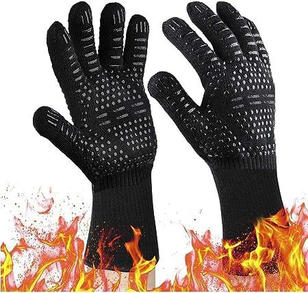 2x BBQ Handschuh Ofenhandschuhe Grillhandschuhe Kochhandschuhe Hitzebeständig HL