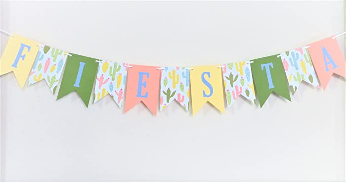 Amazoncom Fiesta Cactus Banner Birthday Party Ideas Baby Shower