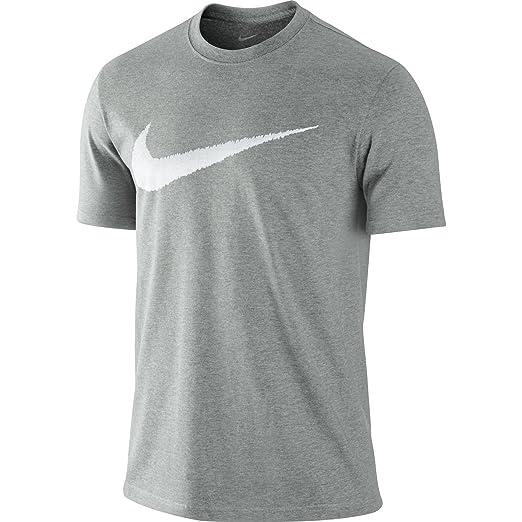 d3aaf45bea39c Amazon.com: Nike Hangtag Swoosh Men's T-Shirt Grey/White 382697-063 ...