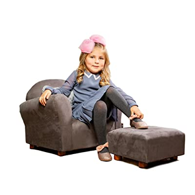 KEET Roundy Child Size Chair with Microsuede Ottoman : Baby