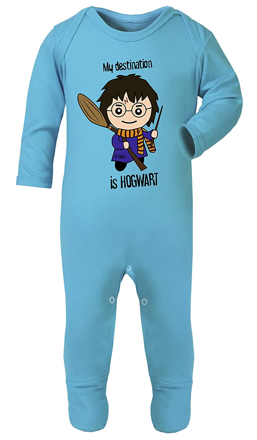 Colour Fashion Harry Potter My Destination is Hogwart Cute Print Footies Pajamas Hypoallergenic