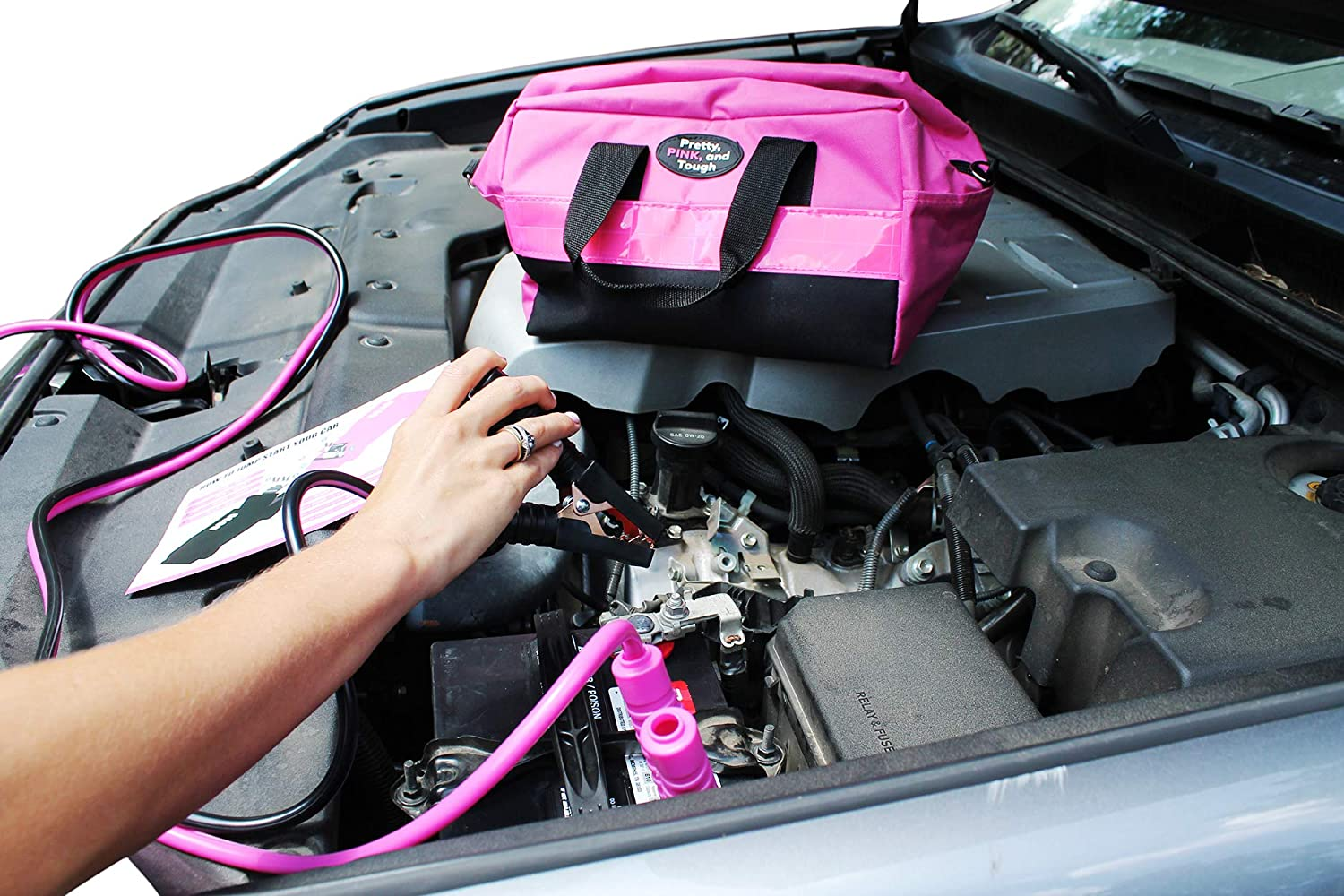 Gears Out Pretty Pink Roadside Kit - Pink Emergency kit for Teen Girls and Women
