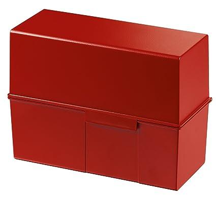 Karteikasten A5 Quer Karteikarten Box Aufbewahrungsbox Karteibox Plastik Blau