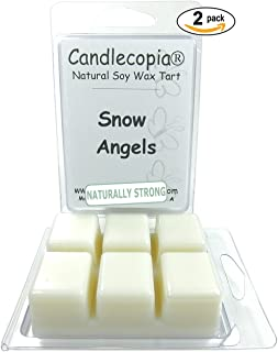 product image for Candlecopia Snow Angels Strongly Scented Hand Poured Vegan Wax Melts, 12 Scented Wax Cubes, 6.4 Ounces in 2 x 6-Packs