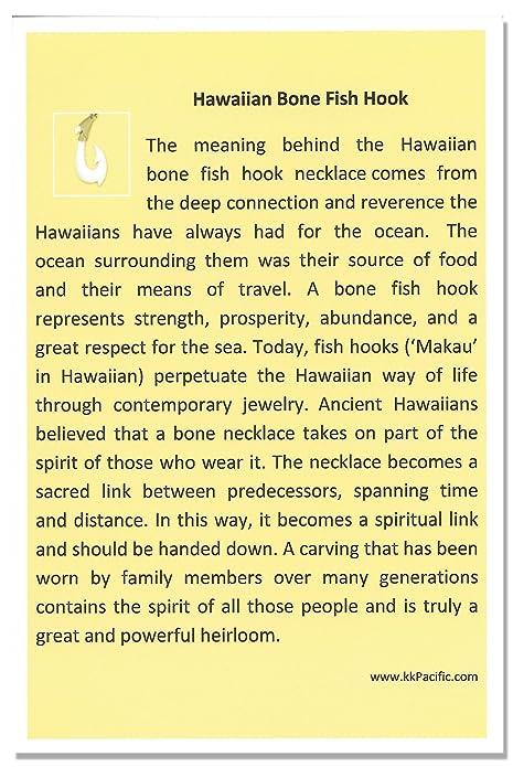 Amazon.com: Collar hawaiano con mano labrada en espina de ...