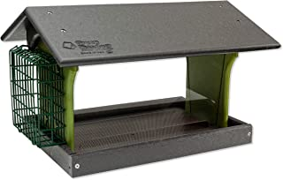 product image for Classic Single Suet Poly Bird Feeder (Gray & Lime, Mount Style - Post Mount)