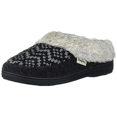Amazon.com | Dearfoams Women's Fairisle Knit and Felted Microwool Clog Slipper | Mules & Clogs