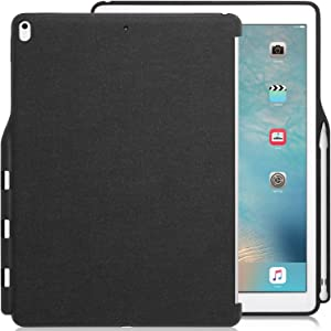 KHOMO iPad Pro 12.9 Inch Back Cover (Compatible with 2015 and 2017 version) - Companion Cover - With Pen holder - Perfect match for smart keyboard (Does not include pen)