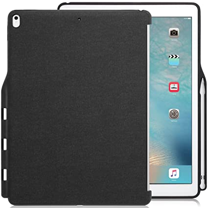 new style 9e4a4 95b67 KHOMO iPad Pro 12.9 Inch Back Cover (Compatible with 2015 and 2017 version)  - Companion Cover - With Pen holder - Perfect match for smart keyboard ...