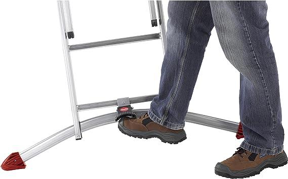 Hailo ProfiLOT.3 - Escalera industrial 3 tramos de aluminio con estabilizador curvo LOT-SYSTEM (3 x 9 peldaños): Amazon.es: Bricolaje y herramientas