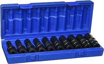 "Grey Pneumatic 1210UM 3//8/"" Drive 10-Piece Universal Metric Socket Set"