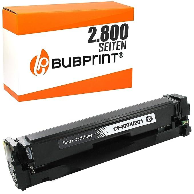 Bubprint Tóner Compatible con HP CF400X 201X para Impresora ...