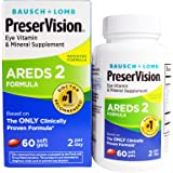 Bausch + Lomb PreserVision AREDS 2 Eye Vitamin & Mineral Supplement Soft Gels, 60 Count Bottle