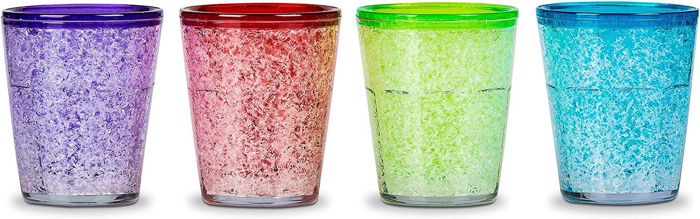 Froster Ice Shots, Juego de 4 vasos de chupito de vodka 50 ml para congelar, Regalo para hombre, Chupitos originales