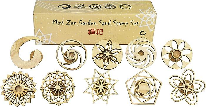 Top 10 Mini Zen Garden Rake And Sand Stamp Set