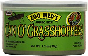 Zoo Med Laboratories SZMZM44 Can O Grasshoppers, 1.2-Ounce