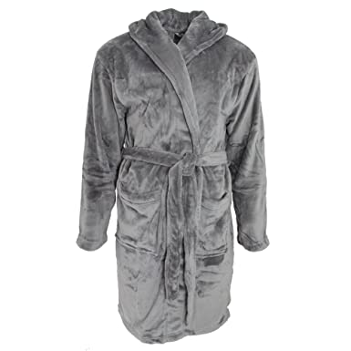 4d0485e1eb Pierre Roche Mens Luxury Soft Touch Hooded Dressing Gown at Amazon ...