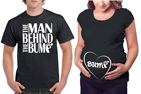 Amazon.com: Matching Maternity Couple Shirts - The Man Behind the ...