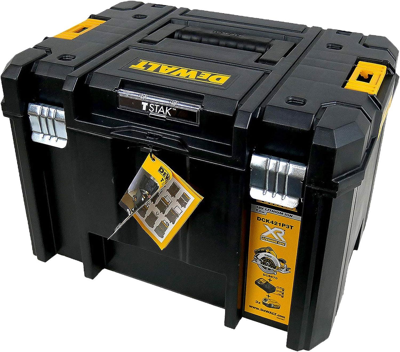 Dewalt T-STAK VI Caja de herramientas/transporte (combinable con otras cajas de Tstak, almacenamiento seguro de herramientas eléctricas y herramientas de artesanía) DWST1-71195 sin bolsa ni plantilla: Amazon.es: Bricolaje y herramientas