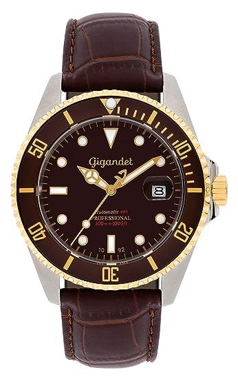 Gigandet Reloj de Hombre Automático Sea Ground Reloj de Buceo Analógico Cuero Marrón G2-019: Gigandet: Amazon.es: Relojes