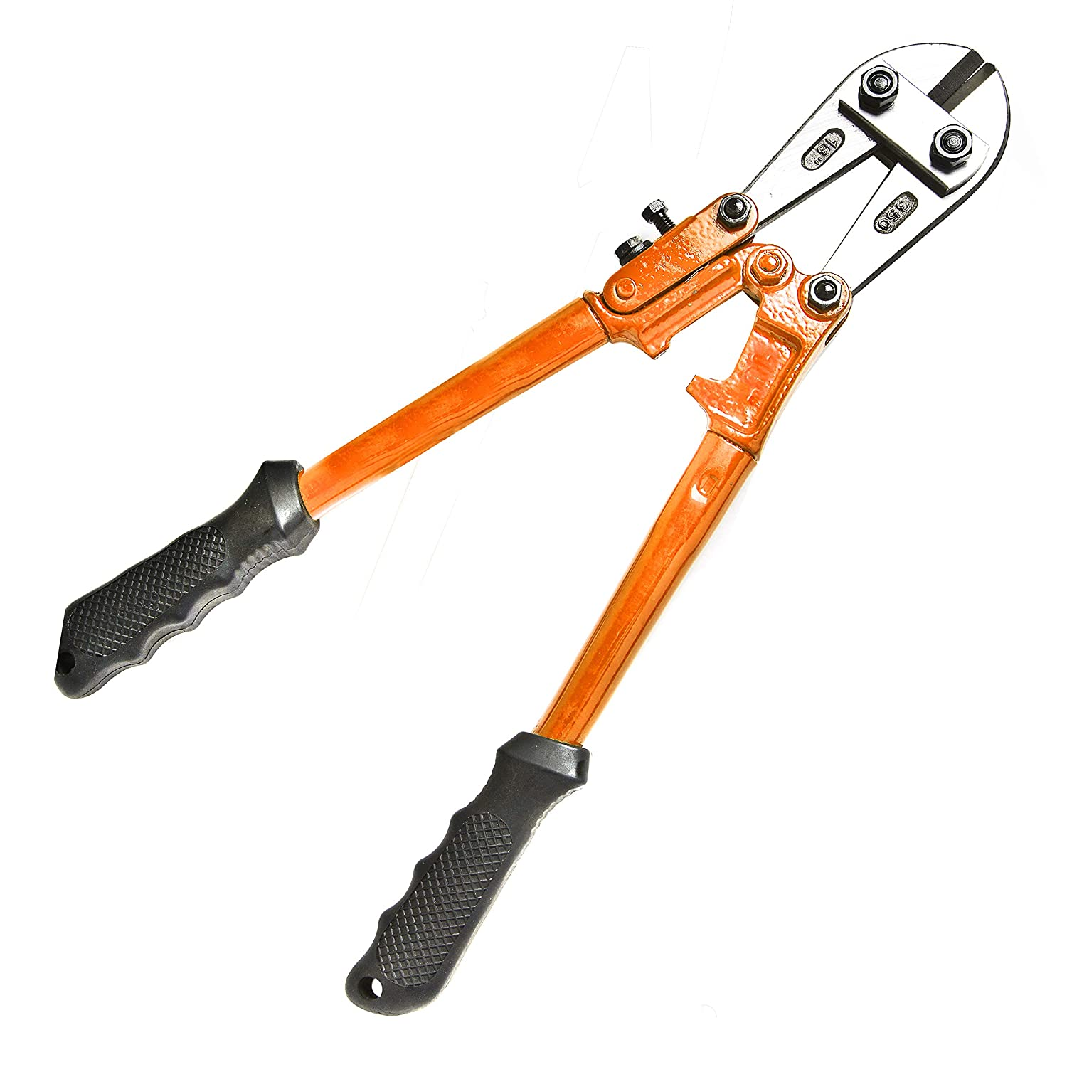 Brackit Heavy Duty 18in Bolt Cutter Building Carpentry 450mm Mini Cropper Tool with Rubberized Anti-Slip Easy Grip Handles for Mechanics Plumbing