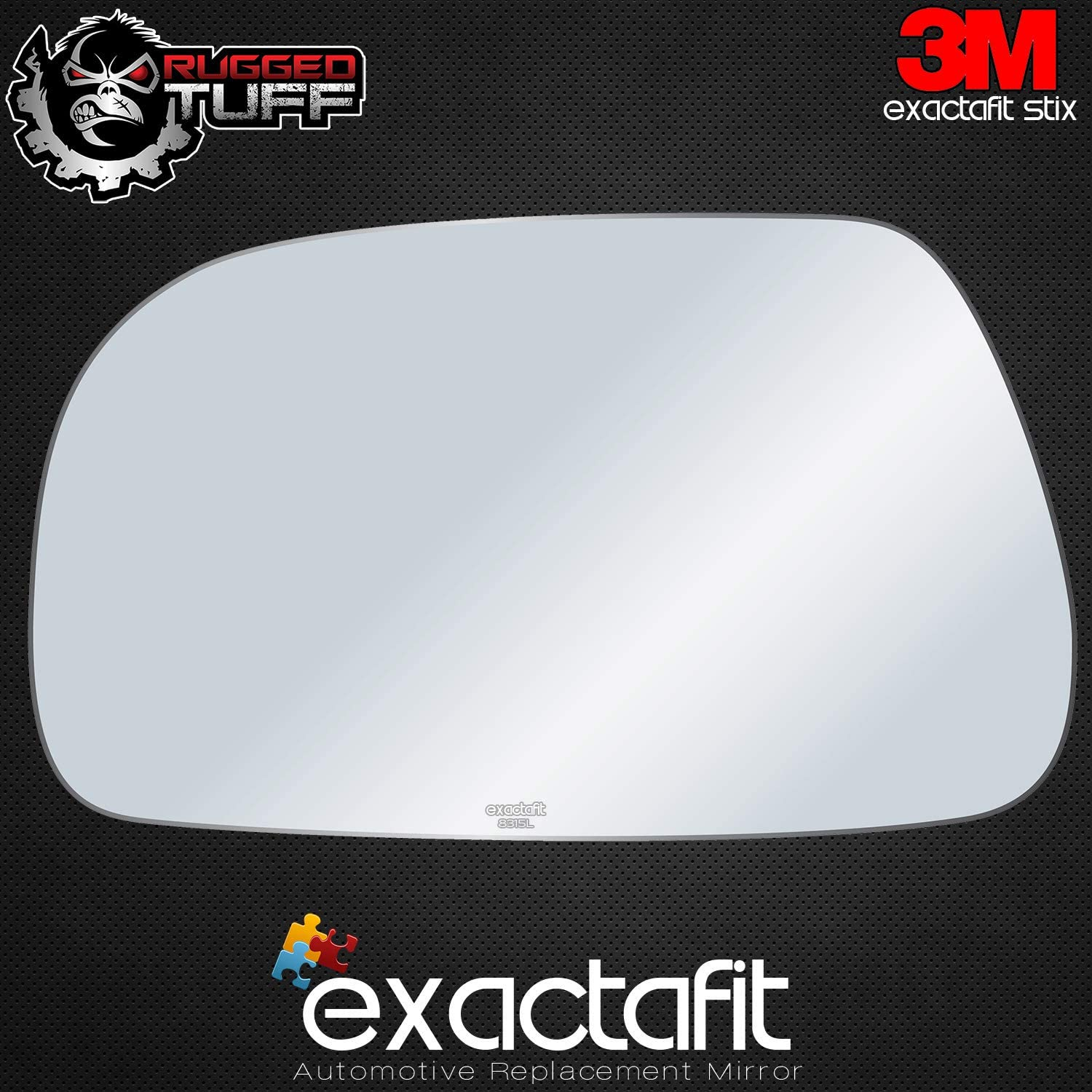 exactafit 8315L Driver Left Side Mirror Glass Replacement fits 2004-2005 Chrysler Pacifica by Rugged TUFF