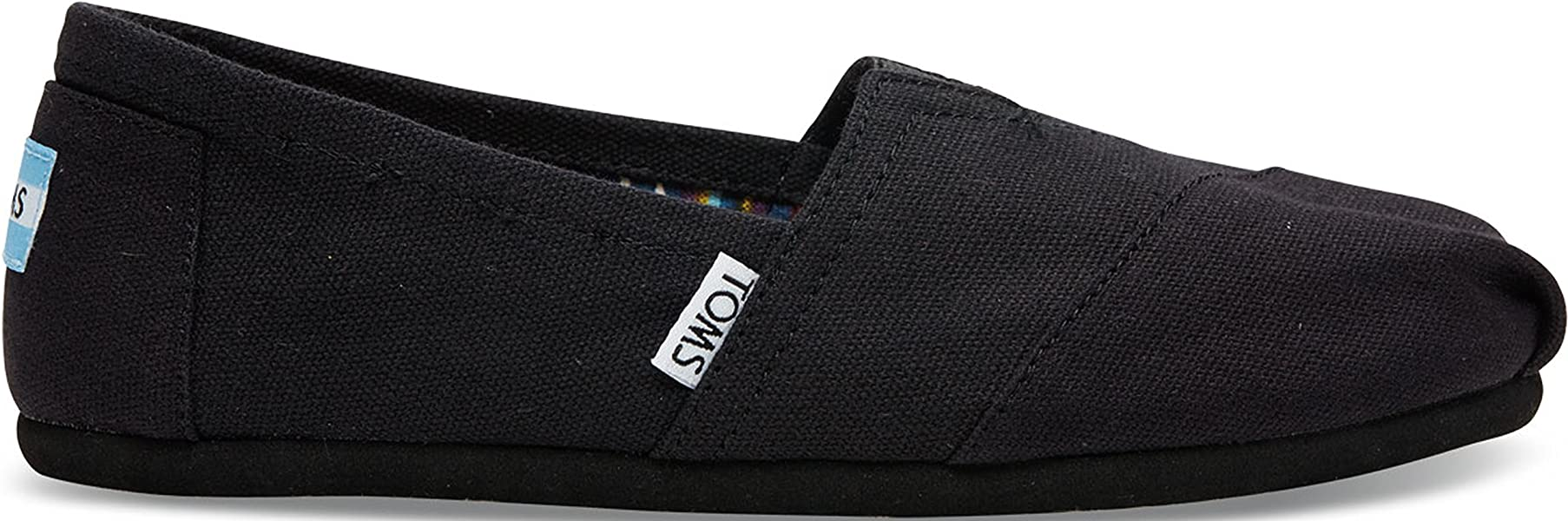 Women's Classic Canvas Black on Black Slip on Shoe 8.5 B(M) US