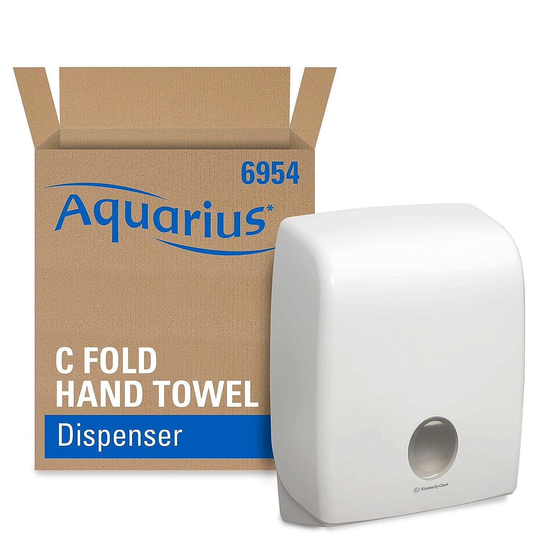 AQUARIUS 6954 C Fold Hand Towel Dispenser, White Kleenex