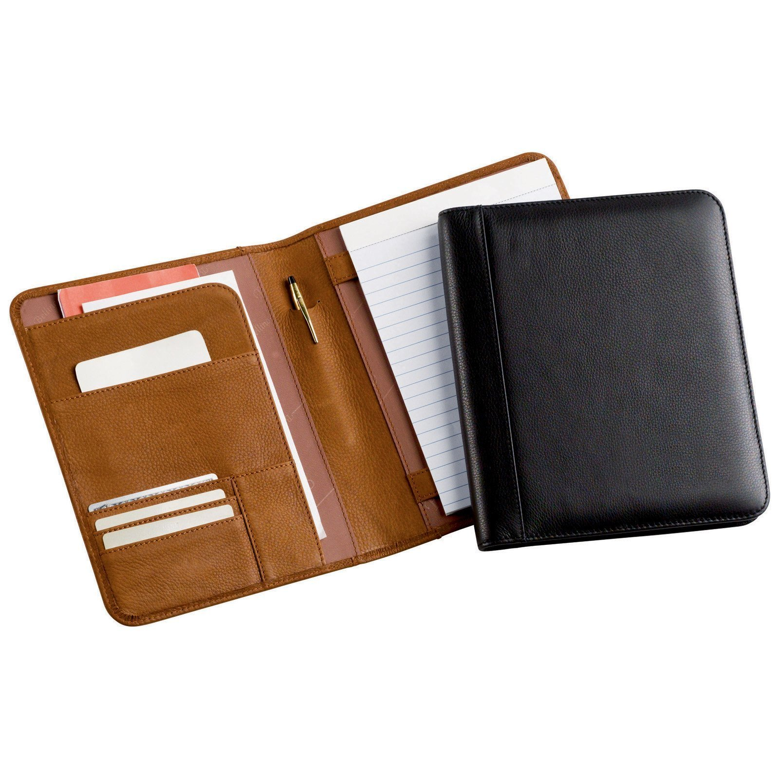 Bellino Leather Memo Pad Holder Junior - Black